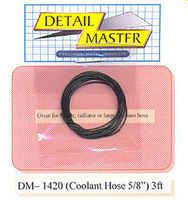Detail-Master 2ft. Coolant Hose Black Plastic Model Vehicle Accessory Kit 1/24-1/25 Scale #1420