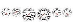 Detail-Master Street Rod Gauges #1 (White) Plastic Model Vehicle Accessory Kit 1/24-1/25 Scale #2300wht