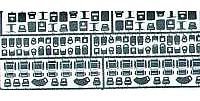 Detail-Master Seat Belt Hardware Plastic Model Vehicle Accessory Kit 1/24-1/25 Scale #2540