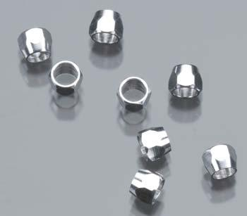 Detail-Master Compression Fitting #6 (8pc) Plastic Model Vehicle Accessory Kit 1/24-1/25 Scale #3026