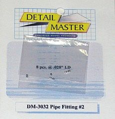 Detail-Master Pipe Fitting #2 (8pc) Plastic Model Vehicle Accessory Kit 1/24-1/25 Scale #3032
