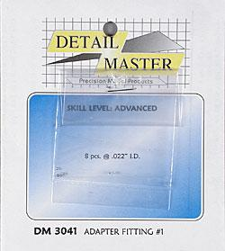 Detail-Master Adapter Fitting #1 (8pc) Plastic Model Vehicle Accessory Kit 1/24-1/25 Scale #3041