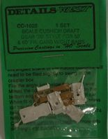 Details-West Freight Car 50/60 Cushion Draft Gear 20 Style HO Scale Miscellaneous Train Part #1025