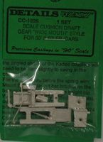 Details-West Freight Car 50/60 Cushion Draft Gear Wide Mouth HO Scale Miscellaneous Train Part #1026