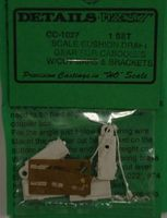 Details-West Caboose Cushion Draft Gear HO Scale Miscellaneous Train Part #1027