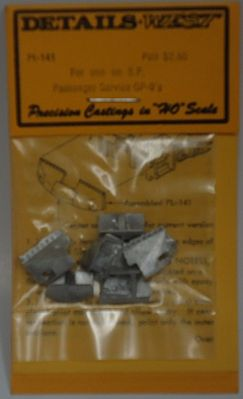 Details West Pilot SP Passenger Service GP9's (pr) (D) -- HO Scale Miscellaneous Train Part -- #141