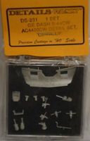Details-West GE Dash 9-44CW Detail Set UP, C&NW HO Scale Miscellaneous Train Part #231