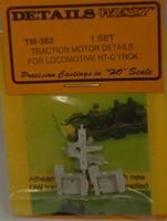 Details-West Traction Motor Details for Loco HT-C Trucks (1 Set) HO Scale Miscellaneous Train Part #362