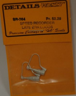 Details-West Speed Recorder for Late Era Locos (pr) HO Scale Miscellaneous Train Part #364