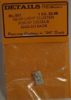 Details-West Rear Light Cluster Angled Back for SP Diesels HO Scale Miscellaneous Train Part #367