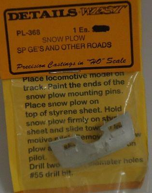 Details West 287 x  HO Snow Plow BN etc. GN