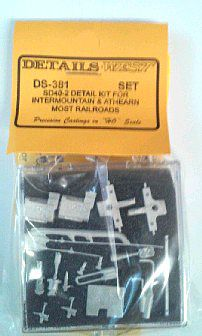 Details West HO SD40-2 Detail Kit for Intermountain & Athearn, Most Railroads