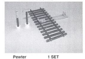 Details-West HO Track Derail Device w/2-Style Post, Ties, Stand & Decals