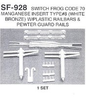 Details-West Switch Frog Cd 70 #8 Mgns HO-Scale