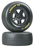 Dura-Trax Lineup SC Tire C2 Mounted Black SC10 Rear (2)
