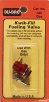 Du-bro Kwik-Fill Fuel Valve Gas