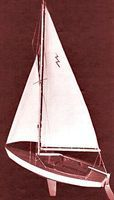 Dumas Lightning Sailboat 19 Kit Wooden Boat Model Kit #1110