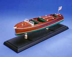 Dumas Triple Cockpit 27' Barrel Back Kit Wooden Boat Model Kit #1703
