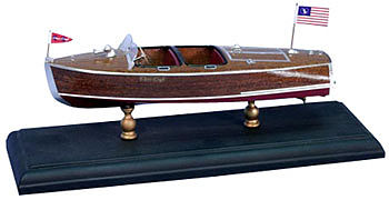 Dumas 1940 19 Barrel Back Kit Wooden Boat Model Kit #1705