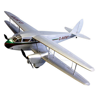 Dumas 42'' Wingspan DH89 Dragon Rapide Wooden Aircraft Kit (suitable for elec R/C)