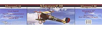 Dumas 35 Wingspan Nieuport 28 WWI BiPlane Wooden Aircraft Kit (suitable for elec R/C)