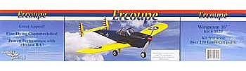 Dumas 36'' Wingspan Ercoupe Wooden Aircraft Kit (suitable for elec R/C)