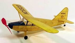 Dumas 17-1/2'' Wingspan Stinson Voyager Rubber Pwd Aircraft Laser Cut Kit
