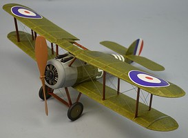 Dumas 18 Wingspan Sopwith Snipe Rubber Pwd Aircraft Laser Cut Kit