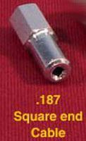 Dumas Engine Coupling for Square Cable (6mm Engine) (.187 Shaft)