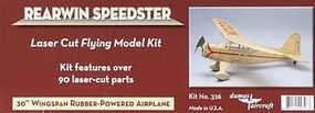 Dumas 30 Wingspan Rearwin Speedster Rubber Pwd Aircraft Laser Cut Kit