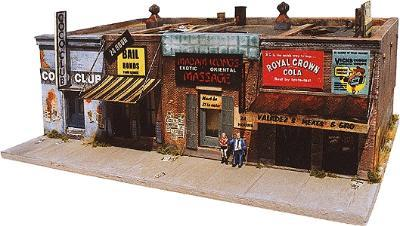 Downtown-Deco Addams Ave. Part Two Kit HO Scale Model Railroad Building #1002