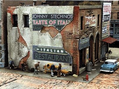 Downtown-Deco Blair Avenue Part Two Johnny Stechinos & Big Eds Kit HO Scale Model Railroad Building #1031