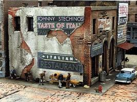Downtown-Deco Blair Avenue Part Two Johnny Stechino's & Big Ed's Kit HO Scale Model Railroad Building #1031
