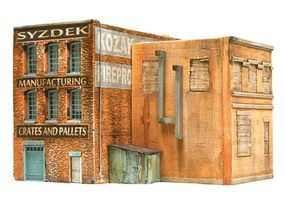 Downtown-Deco Syzdek Manufacturing Kit HO Scale Model Railroad Building #1057