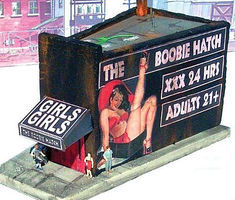 Downtown-Deco The Boobie Hatch Cast-Hydrocal Kit HO Scale Model Railroad Building #1063