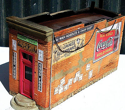 Downtown Deco Chop Suey Take Out Cast-Hydrocal Kit -- HO Scale Model Railroad Building -- #1064