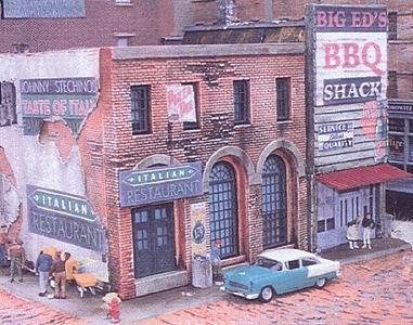 Downtown-Deco Blair Avenue Part Two Kit N Scale Model Railroad Building #2007