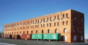 Downtown-Deco Shipping Warehouse Flat Kit N Scale Model Railroad Building #2010