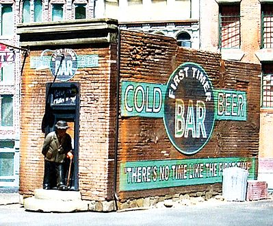 Downtown-Deco First Timer Bar Kit O Scale Model Railroad Building #52