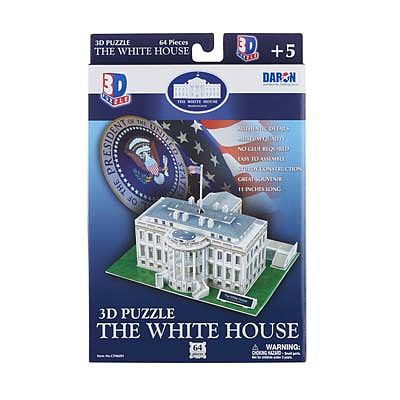 Daron Worldwide Trading Inc. White House 3D 64pcs -- 3D Jigsaw Puzzle -- #060h