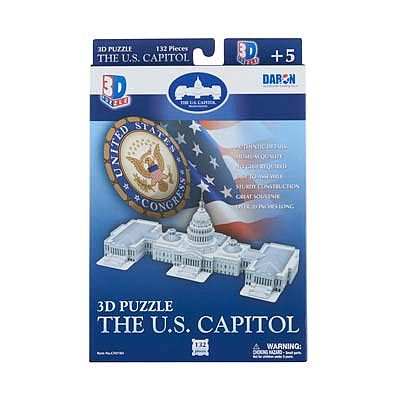 Daron Worldwide Trading Inc. US Capitol 3D 132pcs -- 3D Jigsaw Puzzle -- #074h