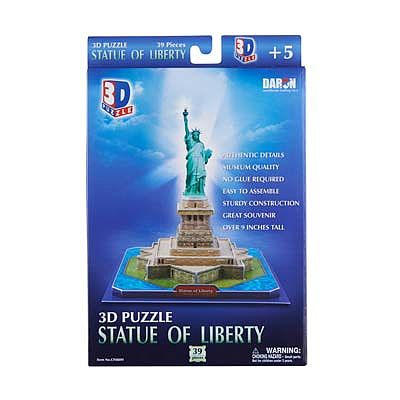 Daron Worldwide Trading Inc. Statue Of Liberty 3D 39pcs -- 3D Jigsaw Puzzle -- #080h