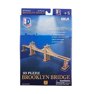 Daron Worldwide Trading Inc. Brooklyn Bridge 3D 35pcs -- 3D Jigsaw Puzzle -- #107h