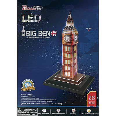 Daron Worldwide Trading Inc. 3D LED Big Ben 28pc Puzzle -- 3D Jigsaw Puzzle -- #501h