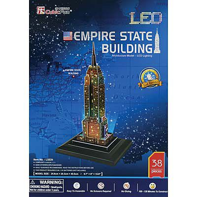 Daron 3D LED Empire State Building 38pc Puzzle