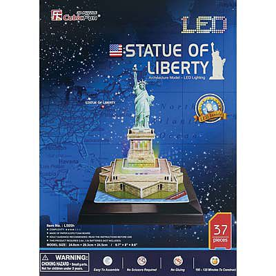 Daron 3D LED Statue of Liberty 37pc Puzzle 3D Jigsaw Puzzle #505h