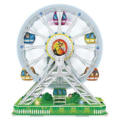 Daron Worldwide Trading Inc. 3D LED Ferris Wheel Puzzle 77pcs -- 3D Jigsaw Puzzle -- #cha127