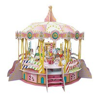 Daron 3D LED Merry Go Round Puzzle 106pcs 3D Jigsaw Puzzle #cha129