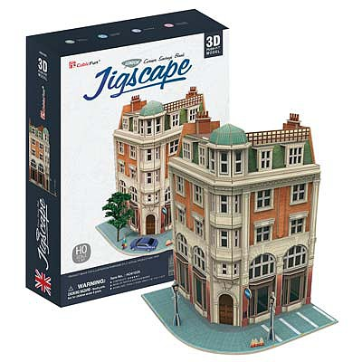 Daron JigScape HO 3D Corner Savings Bank 94pcs 3D Jigsaw Puzzle #ho4102h