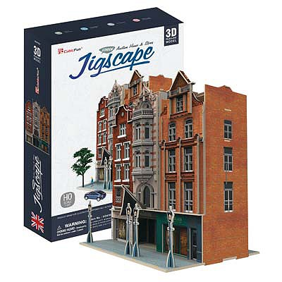 Daron Worldwide Trading Inc. JigScape HO 3D Auction House/Stores 93pcs -- 3D Jigsaw Puzzle -- #ho4103h